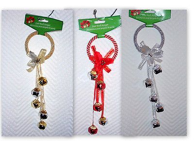 Christmas door, Jingle bells and Door knobs on Pinterest