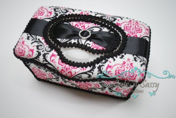 Boutique Flip Top Baby Wipe Case  Madison by CutenSassyCreations, $18.00