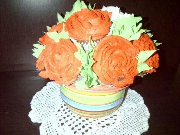Macetero de Cupcakes