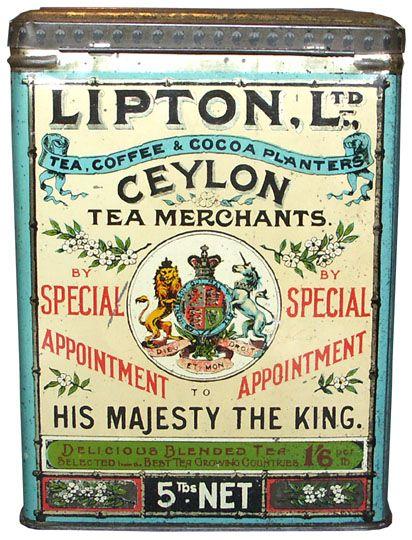 Lipton Tea Tin & Tea and scones on Blue Willow http://www.pinterest.com/pin/109071622200317210/