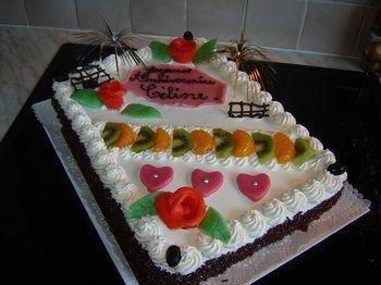 Décoration Gâteau Anniversaire Creme