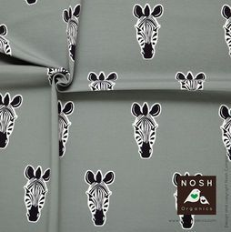 Organic cotton Jersey Zebra Gray/ Graphite