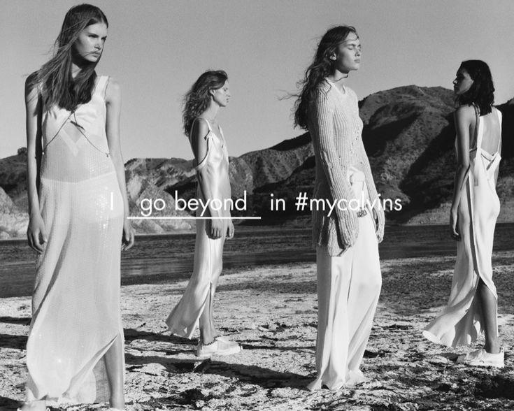 Hanne Linhares, Sophie Rask, Frida Westerlund and Laura Sørensen star in Calvin Klein Collection's spring-summer 2016 campaign