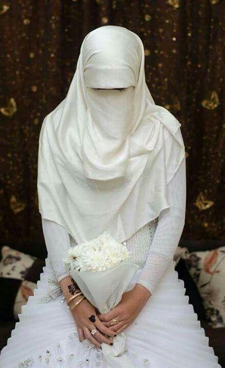 Muslim bride.. Niqab ❤