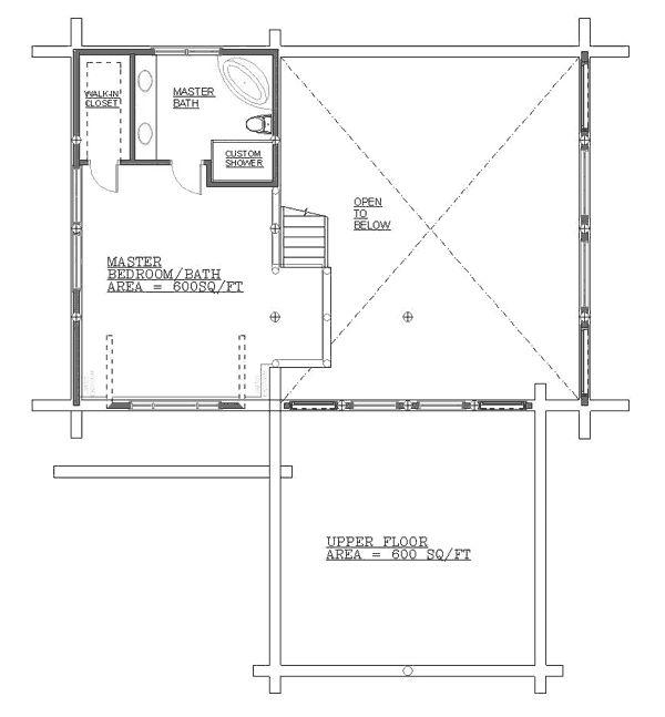 33 best log home floor plans images on pinterest floor for Log home floor plans canada