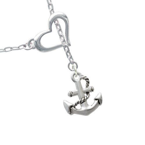 I am sooo loving this!! Antiqued Anchor Heart Charm Necklace. This came packaged in a cute little net bag. The necklace itself is very pretty. You can wear it with everything and doesn't overwhelm the outfit.  #NavyMom #Anchor #Heart #NavyJewelry #NavyNecklace #Navy