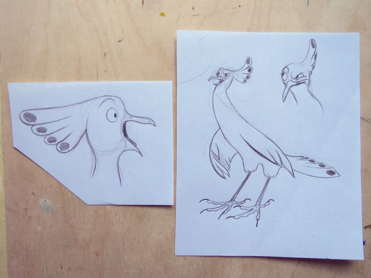 A bird character / drawing animal sketch /