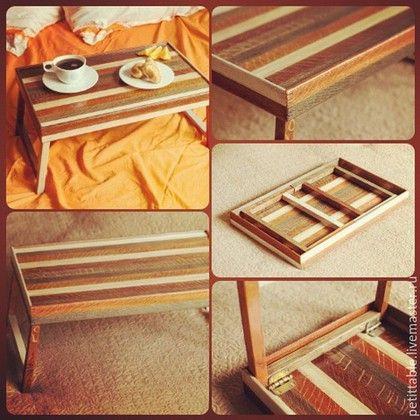 """Мебель ручной работы. Ярмарка Мастеров - ручная работа. Купить столик для завтрака в постель """"Карамель"""". Handmade. Столик для завтрака, подарок"""