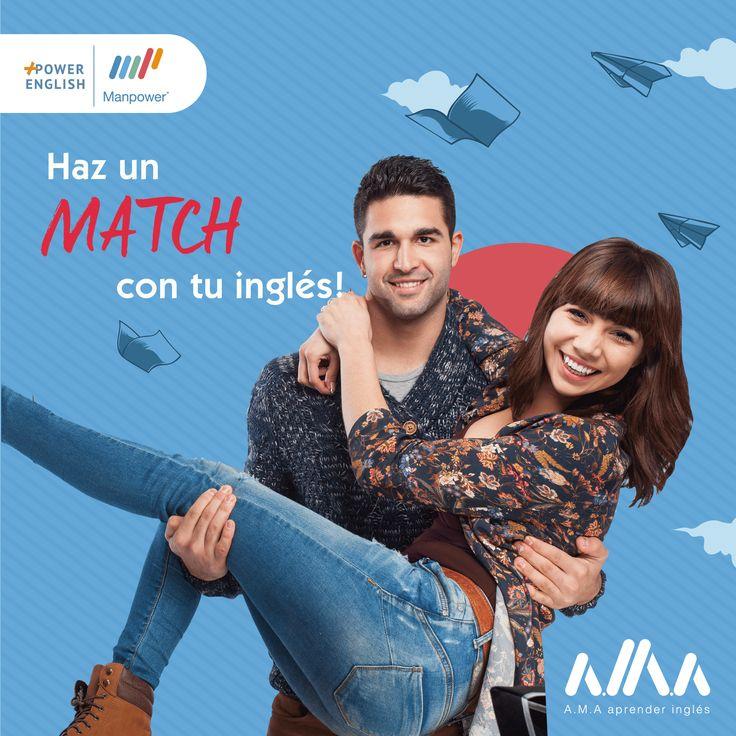 Haz un #Match con tu inglés!#AMA aprender inglés con Manpower English🇺🇸️❤️¡Más información de nuestros cursos acá!📚👉 https://goo.gl/beZRrh