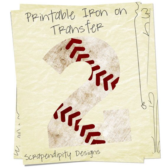 Baseball Number Iron on Transfer Iron on by ScrapendipityDesigns