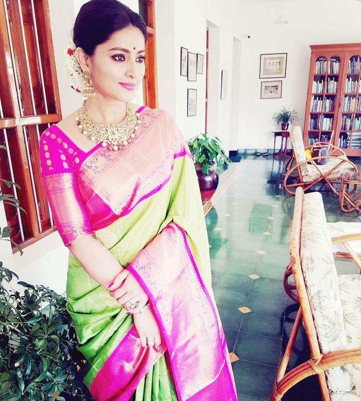 Sneha Green Silk Saree