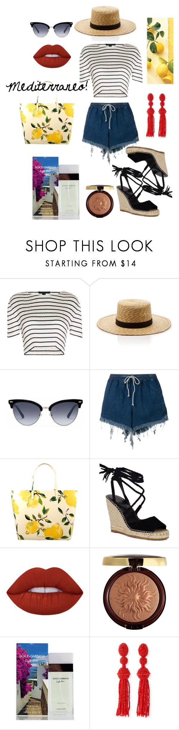 """summer #2"" by evitaom on Polyvore featuring Alexander Wang, Janessa Leone, Gucci, Chloé, Kate Spade, Lime Crime, Physicians Formula, Dolce&Gabbana and Oscar de la Renta"