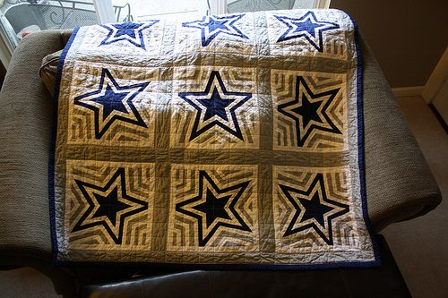 Dallas Cowboys Star quilt