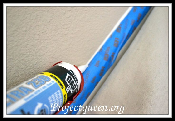 Calking for straight paint lines around baseboards, ceilings, etc.