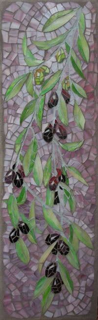 'Ripening: Olives' © 2013 Joanne Daschel The long sinewy branches of an olive tree hangs heavy with ripening fruit. Available at Wine 101, Lincoln City OR