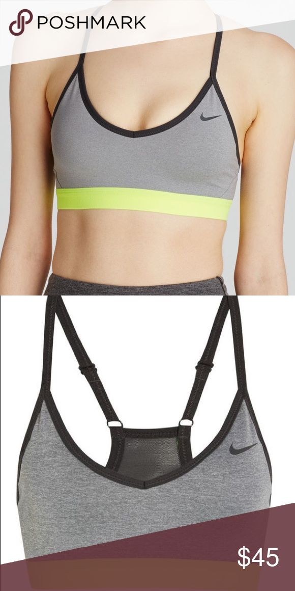 Nike pro gray and yellow sports bra New never used without tags Nike Intimates & Sleepwear Bras