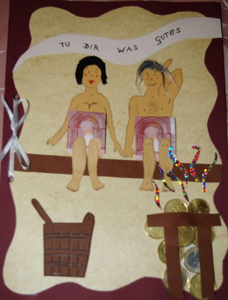 Gutschein zum Geburtstag für einen Besuch im Wellness - center,  bzw. Schwimmbad mit Dampfkrotte und,  oder Sauna.