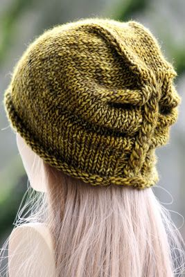 I'm Lichen This Hat: made with roughly 125 yards of chunky weight yarn and size US 10 & 11 needles