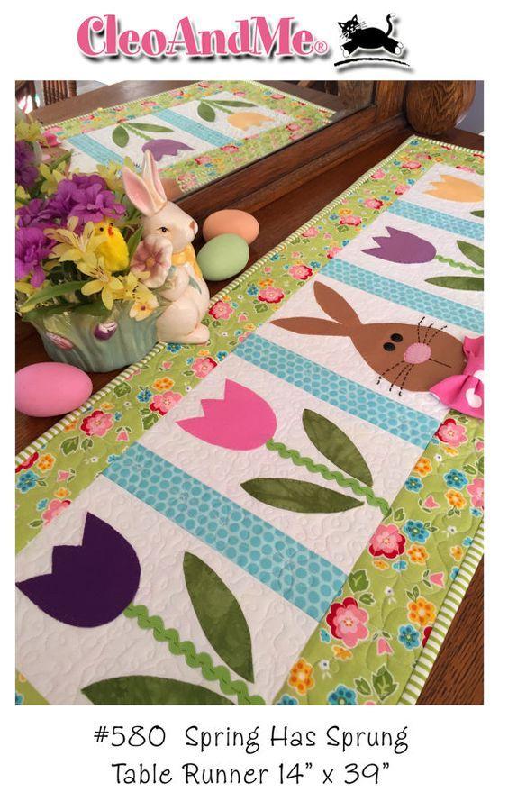 Spring Has Sprung- table runner pattern