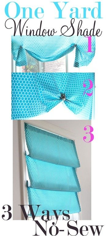 How to Use One Yard of Fabric To Style a Window Shade 3 Ways