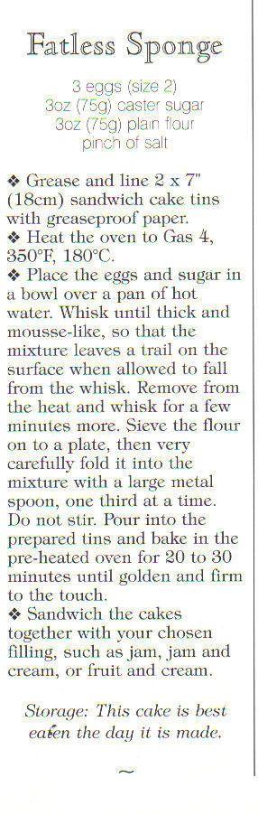Fatless sponge (magazine scan)