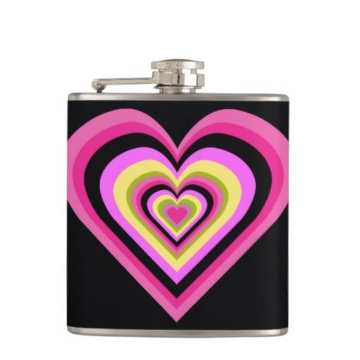 Valentine Rainbow Heart Flask 4 $31.95 -- click for sales!!!!!!