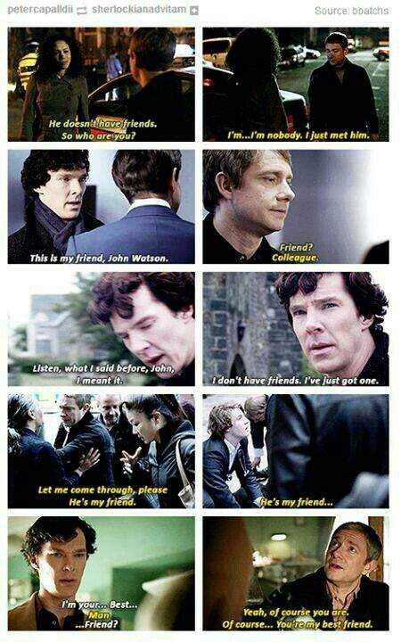 Evolution of Sherlock & John's friendship. AWNN Cutest thing ever