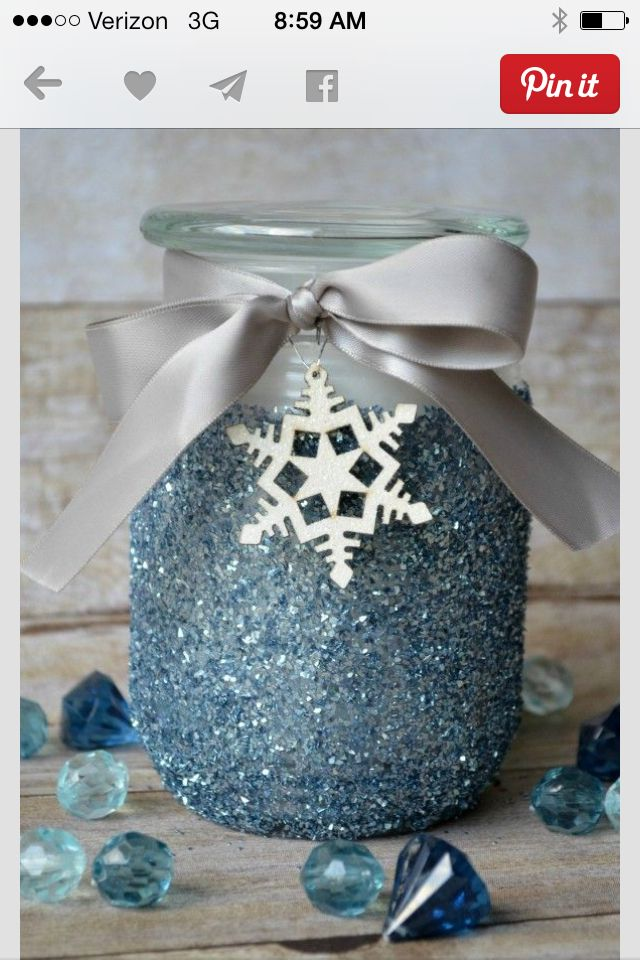 Glitter candles or mason jar center pieces!