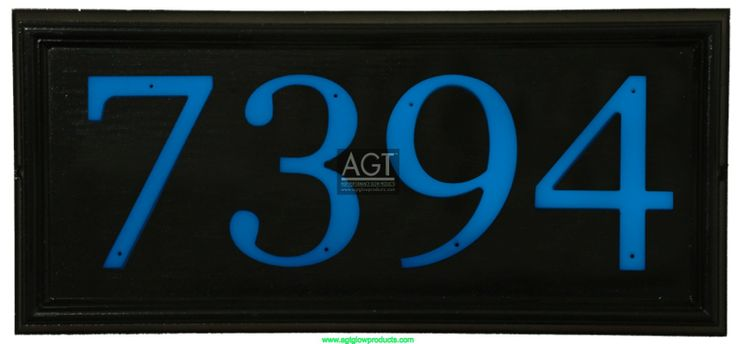Night Time View: AGT SKY Glow Numbers on address plaque.