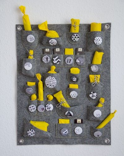 advent calendar and storage for craft stuff - free sewing pattern and video tutorial
