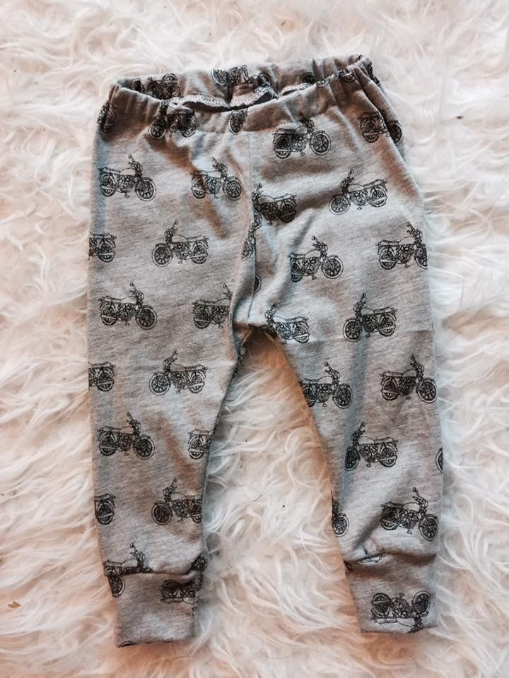 Gray and Black Motorcycle Baby & Toddler Leggings – Felix & Frazzled
