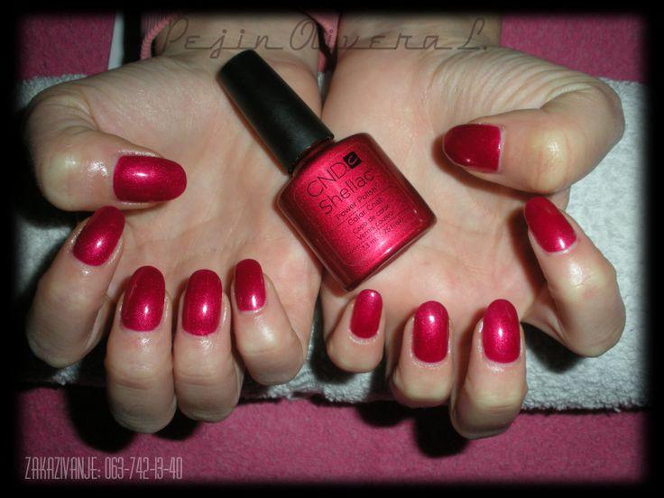 SHELLAC red baroness | Nailin it | Pinterest