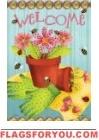 Flowerpot Welcome Garden Flag