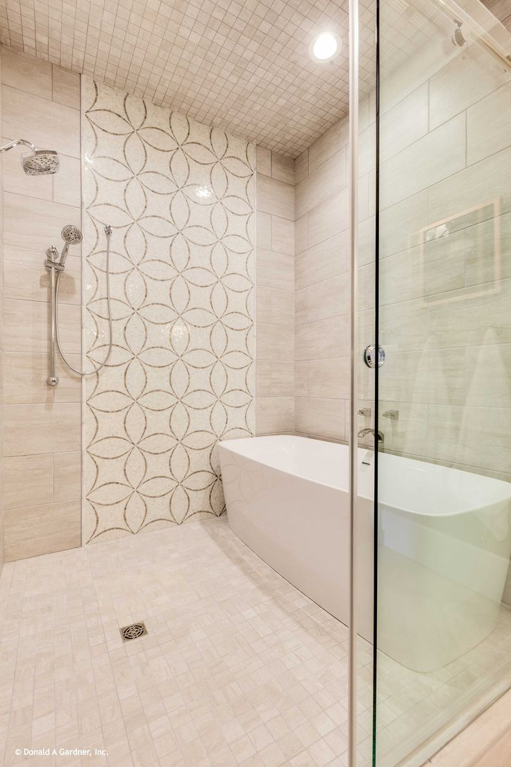 a soaking bathtub is located within the over sized walk in shower the rangemoss home plan 1211. Black Bedroom Furniture Sets. Home Design Ideas
