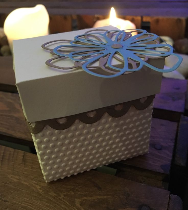 x10 Cream Favour Boxes with flower detail by ShowstopperEvents on Etsy