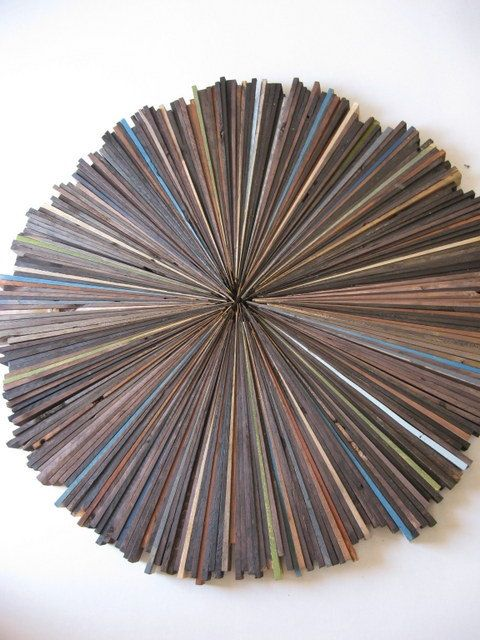 Modern Wood Wall Art Rustic Sculpture Round Circle Abstract Painting on Etsy, $395.00