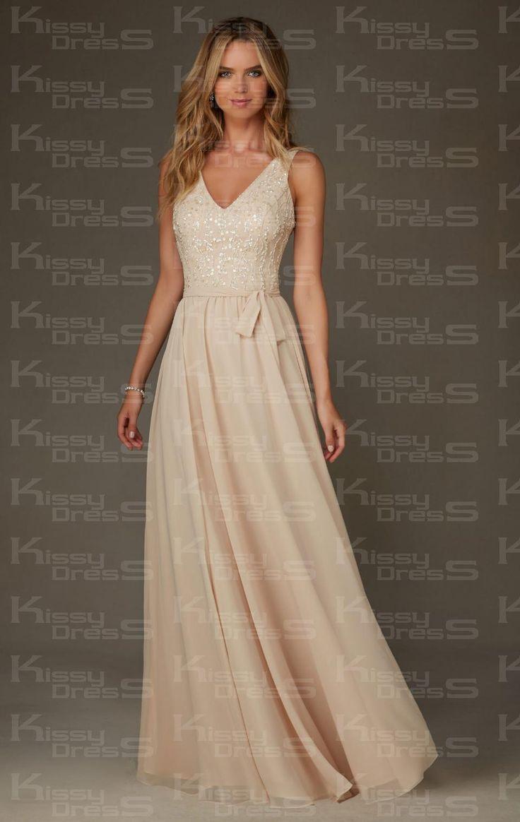 68 best michelles wedding images on pinterest marriage kissybridesmaidscute champagne long bridesmaid dress bnncl0014 ombrellifo Images