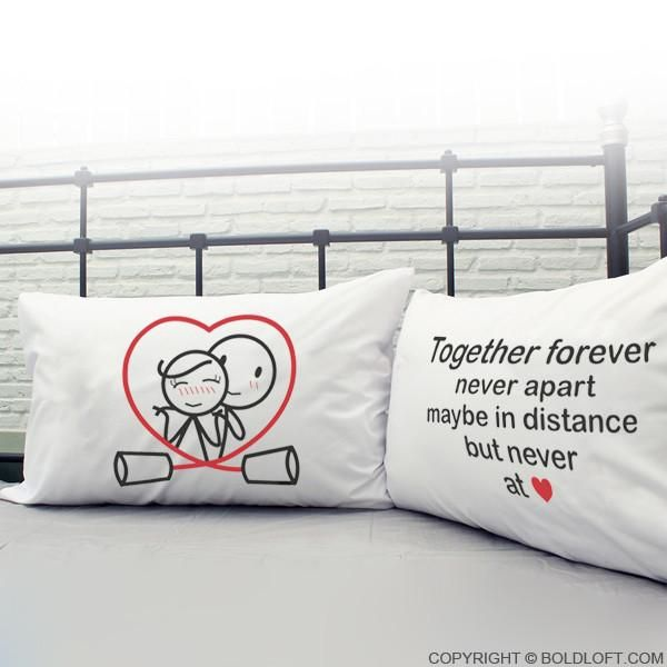 Sad I Miss You Quotes For Friends: Together Forever™ Couple Pillowcase Set