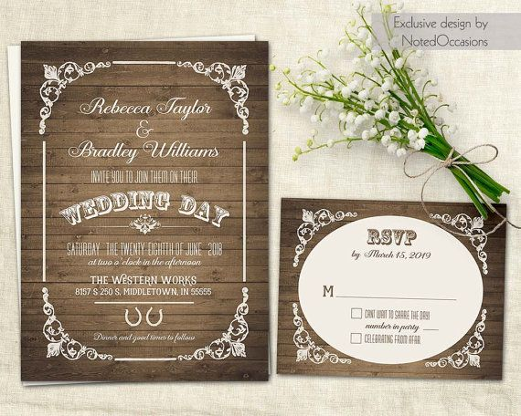 Western Wedding Invitations Templates: 36 Best Images About Sunflower Wedding Invitations Unique
