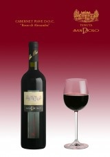 """CABERNET PIAVE D.O.C. """"ROSSO DI ALESSANDRA"""" - A strong wine in its character and herbaceous bouquet. Admirably refined in oak barrels, it is a full-bodied wine with a great personality, as generous as our Piave Land."""