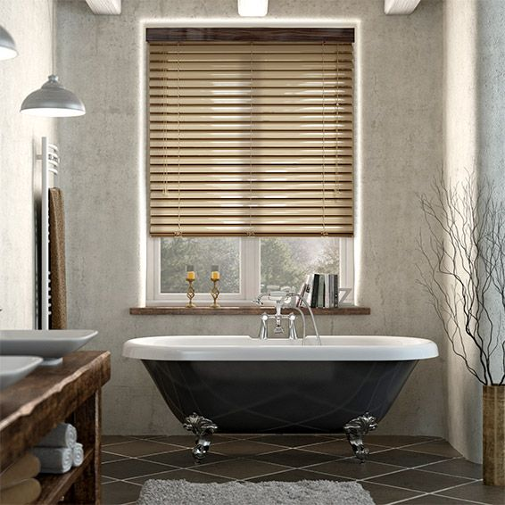 bathroom blinds. The Synergy Vogue venetian blind is like something out of a Bond movie  Champagne slats 60 best Blinds Bathroom images on Pinterest A well