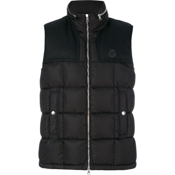 Moncler Gui quilted vest (11.625 ARS) ❤ liked on Polyvore featuring men's fashion, men's clothing, men's outerwear, men's vests, black, mens vest outerwear, mens zipper vest, mens zip vest, mens vest and mens quilted vest