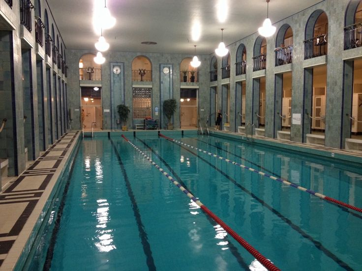 an old swimming pool in Helsinki. The have separate days for men and women, since you must swim naked there!