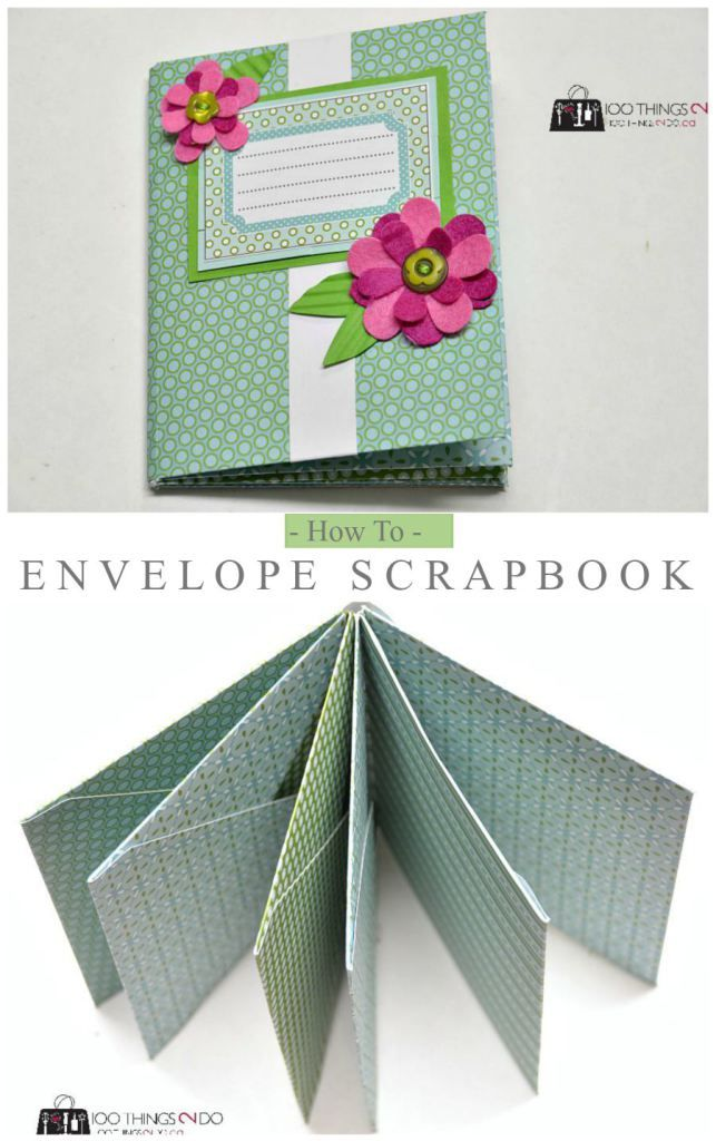 How to make an envelope scrapbook - easy paper craft that makes a great brag book or gift