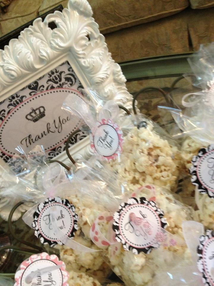 Thank you for coming...and some yummy white chocolate popcorn to take home with you!