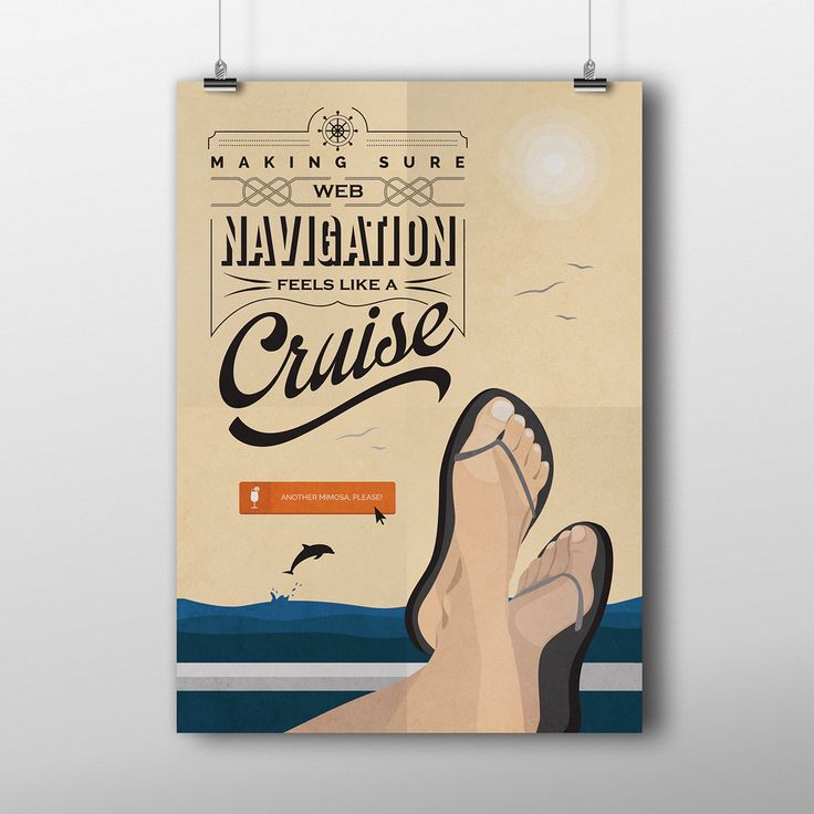 Poster Contest What Do I Do? illustration, sea, cruise, navigation, boat, mimosa, dolphin, flip flops, typography, call to action, UX, UI, graphic design
