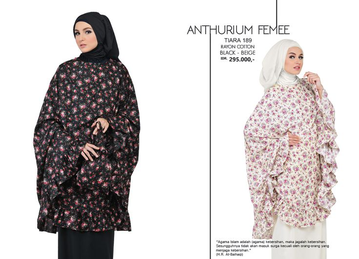 Anthurium Femme - Tiara 189 Rayon Cotton  Black & Beige AVAILABLE only IDR 295.000,-
