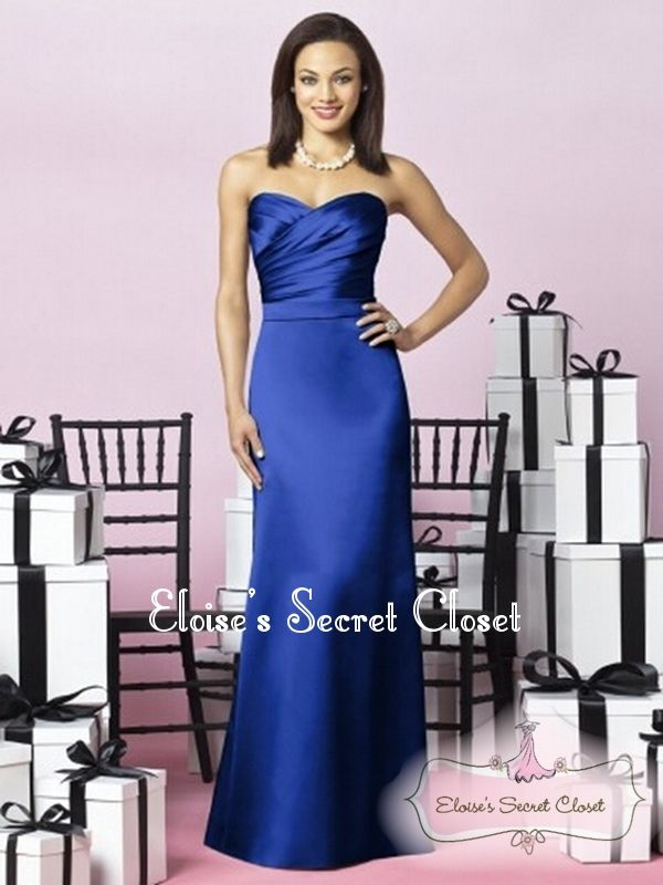 138 best Cobalt Sapphire Blue Bridesmaid Dresses images on ...