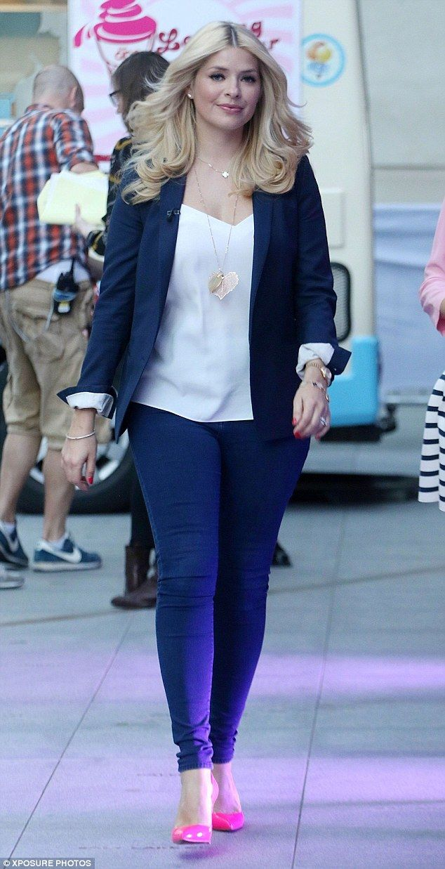 No more partying: Holly Willoughby - pictured after an appearance on The One Show in mid-A...