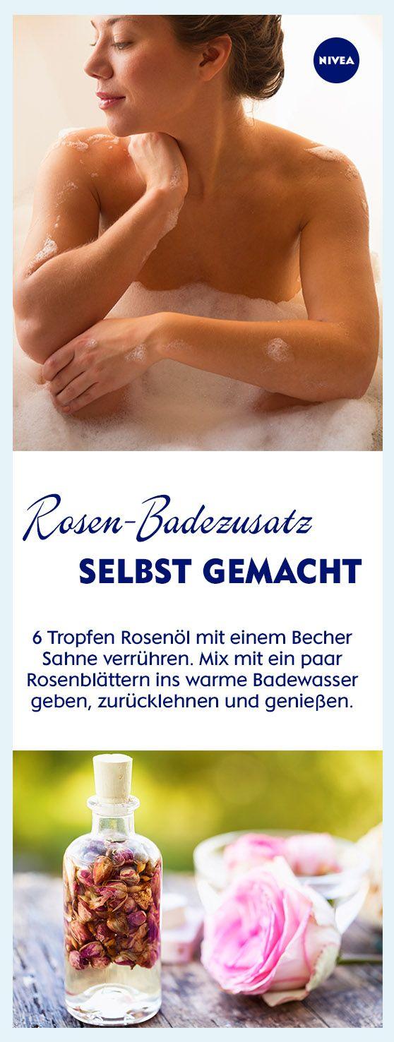 Höchste Zeit für eine kleine Wellness-Auszeit? Dann haben wir hier einen Vorschlag: DIY-Rosen-Badezusatz mixen, warmes Wasser in die Wanne einlassen und entspannt zurücklehnen. Weitere Tipps rund ums Thema Entspannungsbad gibt's im Artikel.